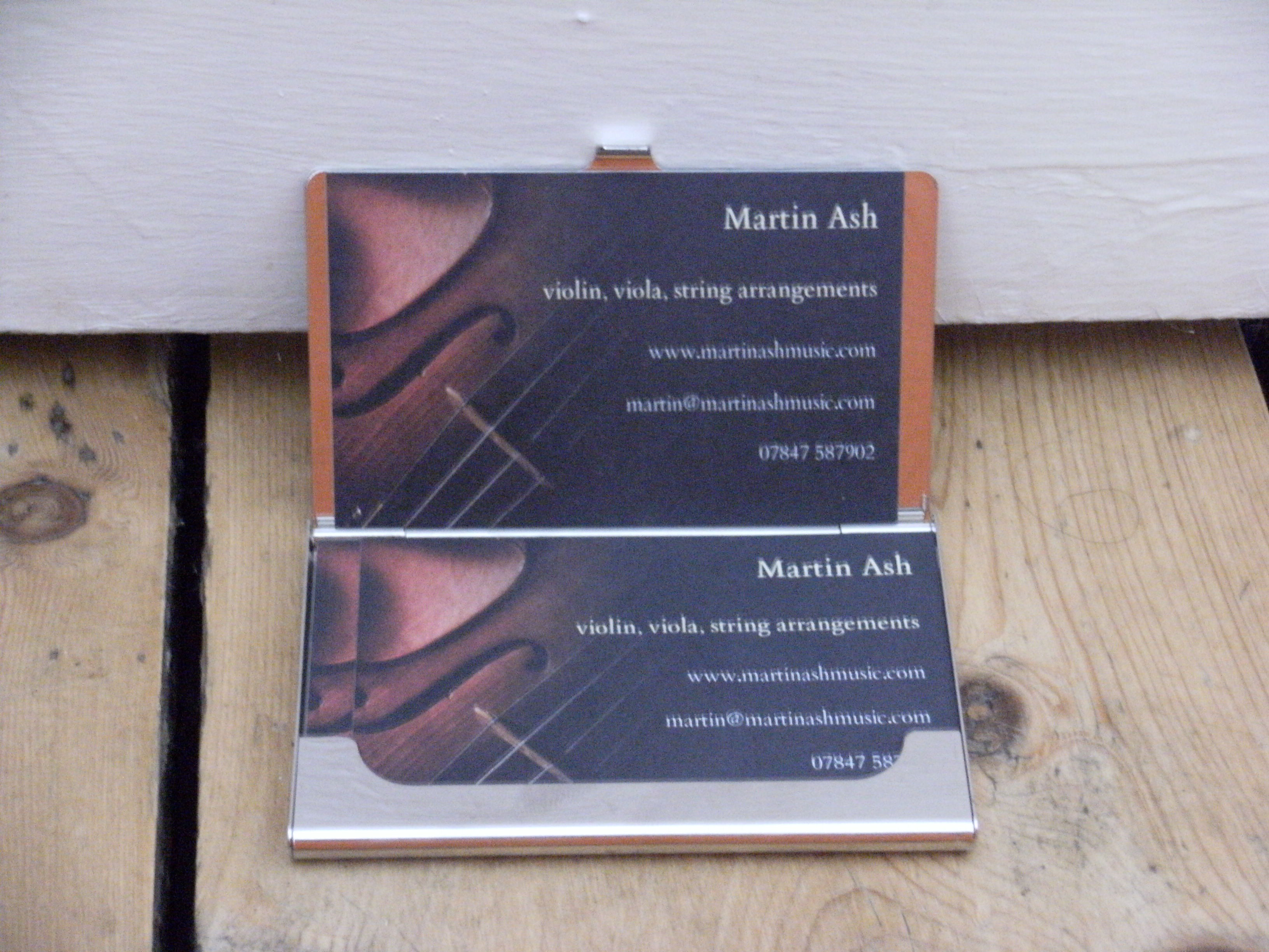 Martin Ash's business cards