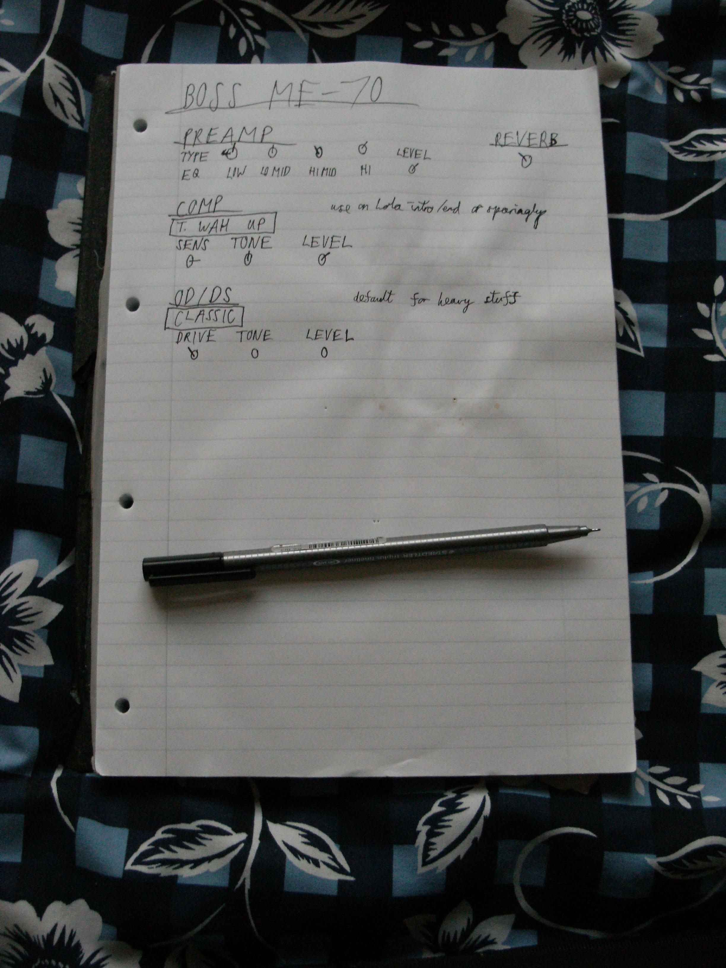 FX unit notes